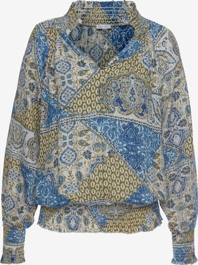 LASCANA Bluzka w kolorze niebieski / khakim, Podgląd produktu