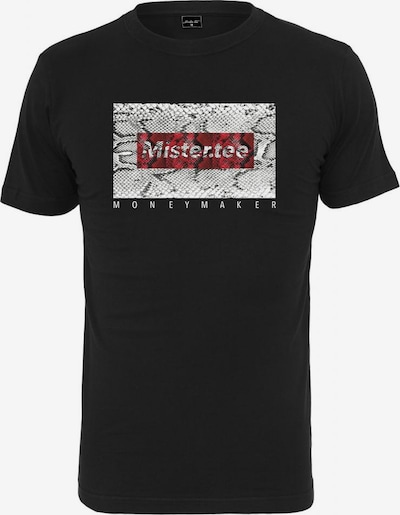 Mister Tee Shirt in rot / weiß, Produktansicht