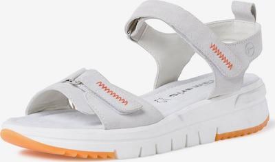 TAMARIS Pohodni sandali | temno oranžna / off-bela barva, Prikaz izdelka