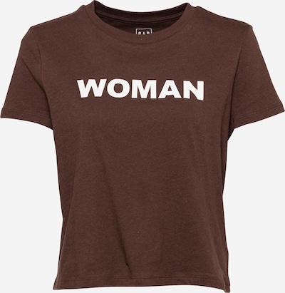 GAP Paita värissä ruskea / valkoinen: Näkymä edestä