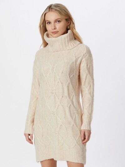 Pimkie Pletené šaty 'OGREEN' - púdrová: Pohľad spredu
