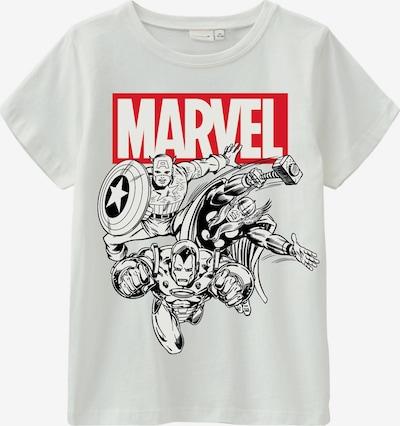 NAME IT Shirt 'Marvel Bas' en rot / schwarz / offwhite, Vue avec produit