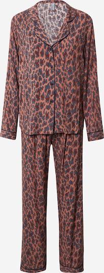 LingaDore Pyjama in braun / weinrot / schwarz, Produktansicht