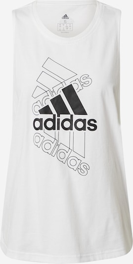 ADIDAS PERFORMANCE Sports top in Black / White, Item view