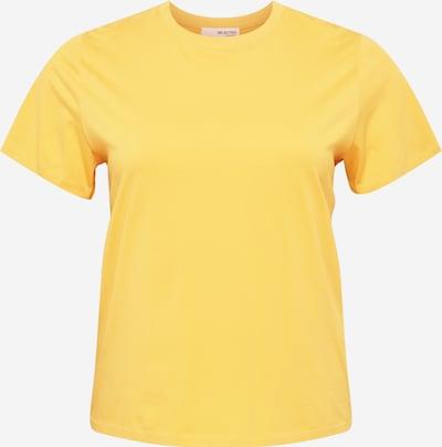 Selected Femme Curve Shirt 'PERFECT' in de kleur Goudgeel, Productweergave