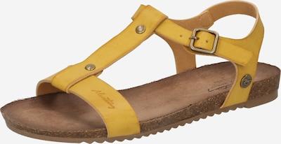 MUSTANG Sandales à lanières en jaune, Vue avec produit