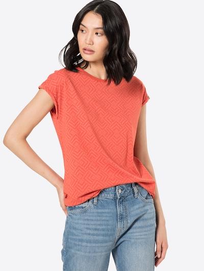 Ragwear Тениска 'Dione' в оранжево-червено / бяло: Изглед отпред