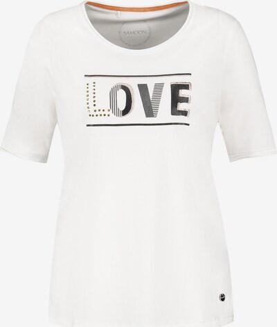 SAMOON T-Shirt in schwarz / weiß, Produktansicht