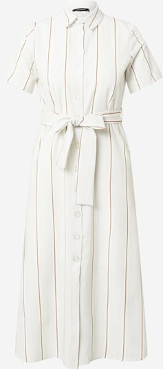 Trendyol Robe-chemise en marron / blanc naturel, Vue avec produit