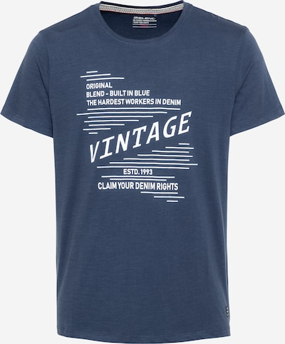 BLEND T-Shirt in dunkelblau / weiß, Produktansicht