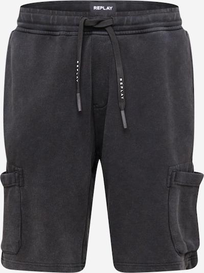 REPLAY Cargobroek in de kleur Zwart / Wit, Productweergave