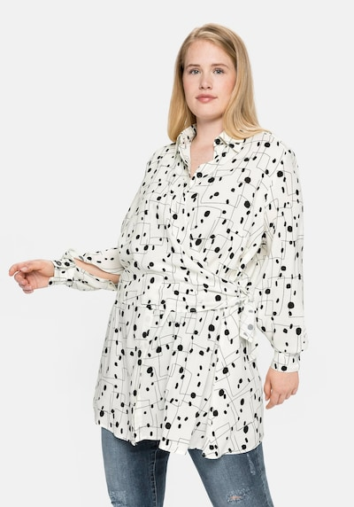 SHEEGO Blouse in Black / White, View model