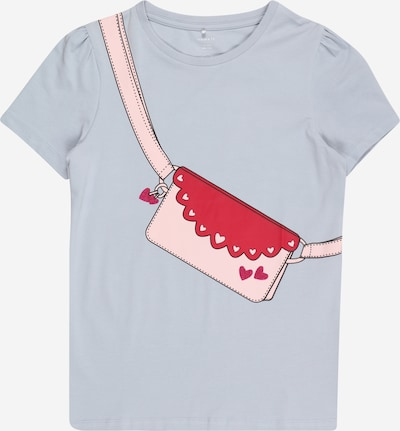 NAME IT Shirt 'BEINA' in light blue / pink / red, Item view