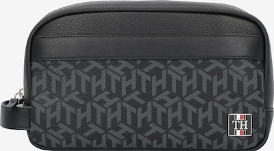 TOMMY HILFIGER Kulturtasche in graumeliert / schwarz, Produktansicht