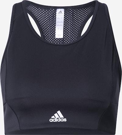 ADIDAS PERFORMANCE Sports-BH i sort / hvid, Produktvisning