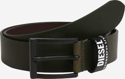 DIESEL Opasek 'B-ELEN' - jedle / bílá, Produkt