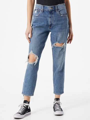 Abercrombie & Fitch Jeans 'MED KNEE BLOWOUT HR MOM ' i blå