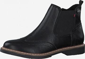 s.Oliver Chelsea Boots in Schwarz