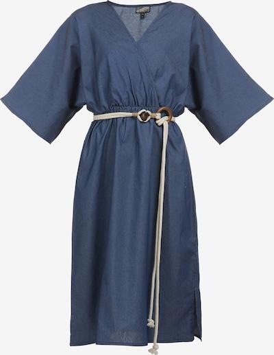 DreiMaster Vintage Robe d'été en bleu denim, Vue avec produit