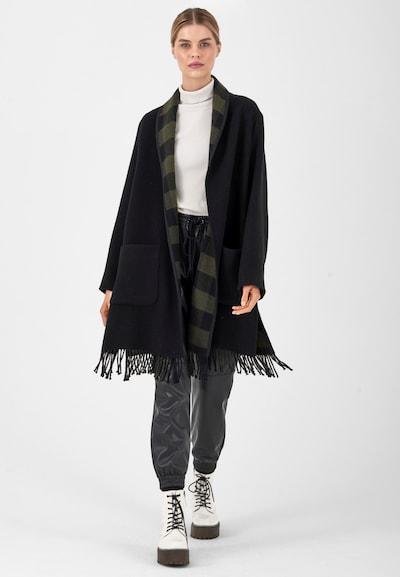 Fuchs Schmitt Between-Seasons Coat in Black, View model