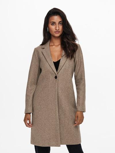 ONLY Between-Seasons Coat 'Trillion' in mottled brown, View model