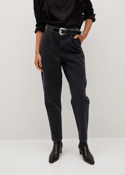 MANGO Jeans  'Corinna' in black denim, Modelansicht