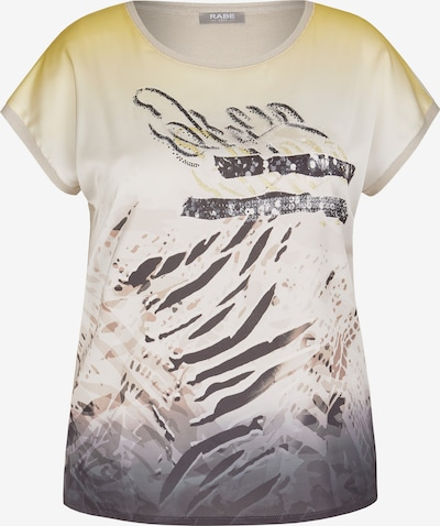 Rabe Shirt mit exotischem Front-Print und Pailletten in gelb / grau / weiß, Produktansicht