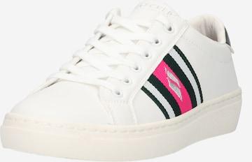 Sneaker low de la SKECHERS pe alb