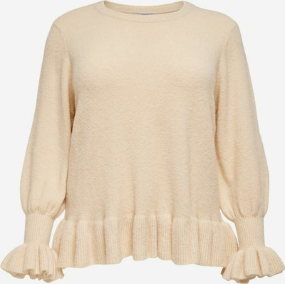 ONLY Carmakoma Strickpullover in beige, Produktansicht