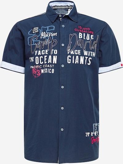 CAMP DAVID Koszula w kolorze granatowy / podpalany niebieski / niebieska noc / jasnoróżowy / białym, Podgląd produktu