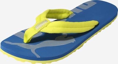 PUMA Claquettes / Tongs 'Epic Flip' en bleu cobalt / jaune fluo, Vue avec produit