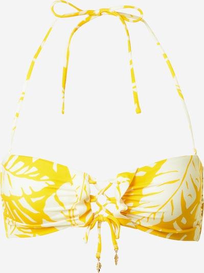watercult Bikinitop in de kleur Geel / Wit, Productweergave