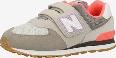 new balance Sneakers in de kleur Grijs / Rosa / Wit: Vooraanzicht
