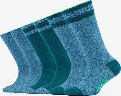 SKECHERS Socken Dallas im 6er-Pack in blau / grün, Produktansicht