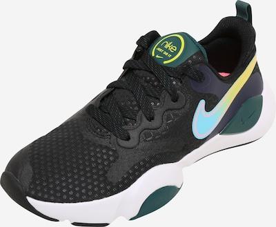 NIKE Chaussure de sport en bleu clair / jaune fluo / vert foncé / noir, Vue avec produit