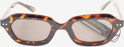 QUAY eckige Sonnenbrille in One Size in hellorange / schwarz, Produktansicht