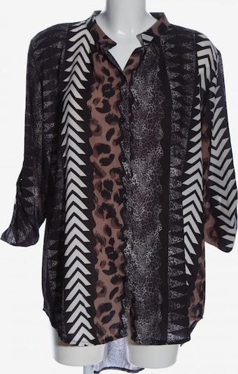ZABAIONE Langarm-Bluse in L in nude / braun / weiß, Produktansicht