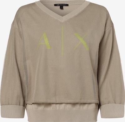ARMANI EXCHANGE Pullover in beige / hellbraun / neongelb, Produktansicht