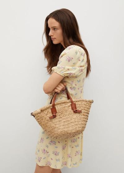MANGO Kleid 'leti' in gelb / grün / rosa, Modelansicht