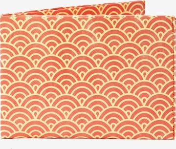 paprcuts Portemonnaie 'Halbkreise Orange' in Mischfarben