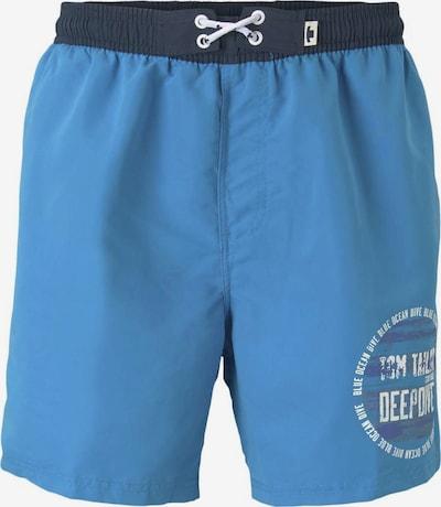 TOM TAILOR Badeshorts in blau / weiß, Produktansicht