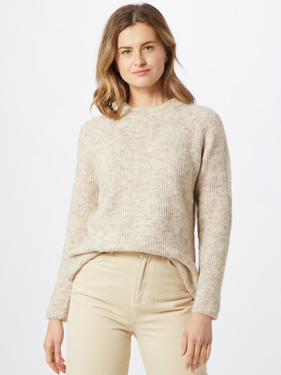 SISTERS POINT Pullover 'LUI' in beige, Modelansicht