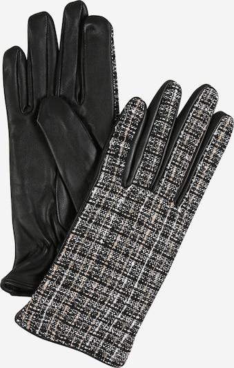 PIECES Fingerhandschuhe in beige / schwarz / weiß, Produktansicht
