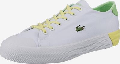 LACOSTE Sneaker in gelb / grün / weiß, Produktansicht