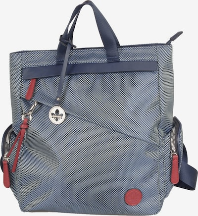 RIEKER Rucksack in blue denim / dunkelblau / dunkelrot, Produktansicht