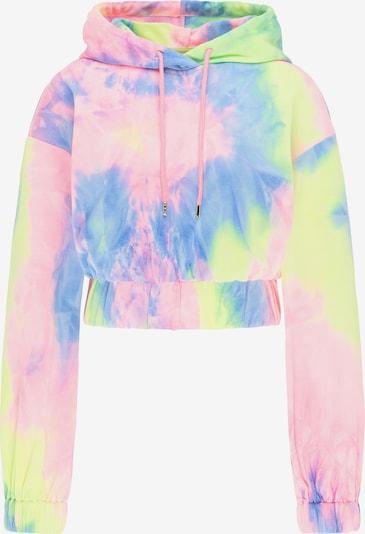 myMo ATHLSR Sweatshirt in hellblau / neongelb / hellpink, Produktansicht
