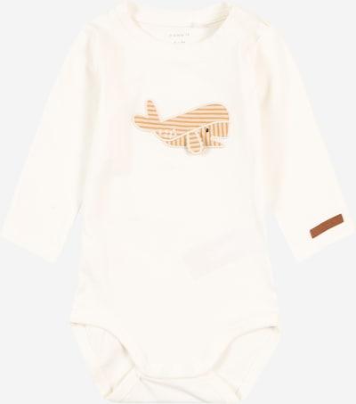 NAME IT Rompertje/body 'POL' in de kleur Bruin / Wit, Productweergave