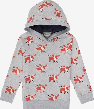 Sense Organics Sweater majica 'JONAS' u siva melange / tamno narančasta / crna / bijela, Pregled proizvoda
