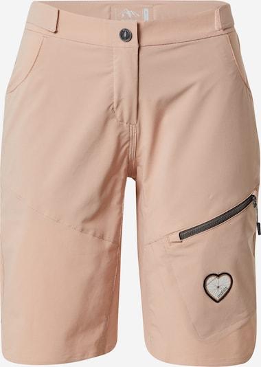Sportinės kelnės 'Roschia' iš Maloja, spalva – pudros spalva / juoda / balta, Prekių apžvalga
