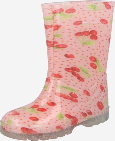 BECK Gummistiefel 'Kirschen' in grün / rosa / rot, Produktansicht